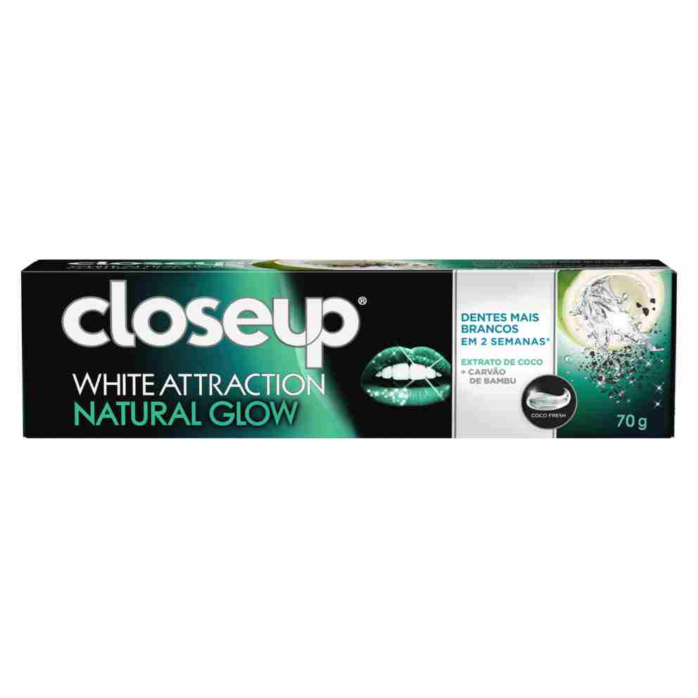 Gel dental Closeup White Attraction Natural Glow 70g frente